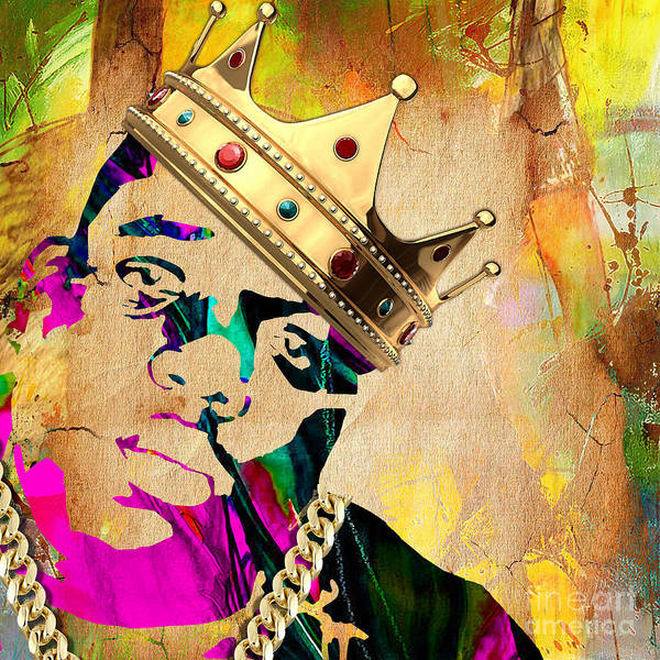 Rap Mixed Media - Biggie Collection by Marvin Blaine