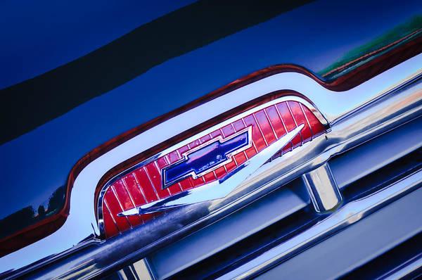 Photograph - Chevrolet Grille Emblem by Jill Reger