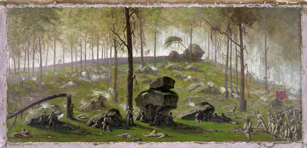 Wall Art - Painting - Civil War Gettysburg, 1863 by Granger