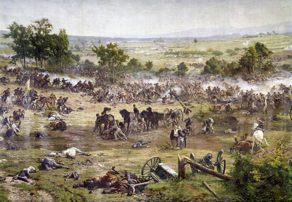 Wall Art - Painting - Civil War Gettysburg by Granger