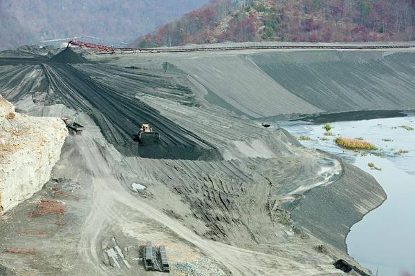 Bulldozer Photograph - Coal Sludge Dam by Jim West