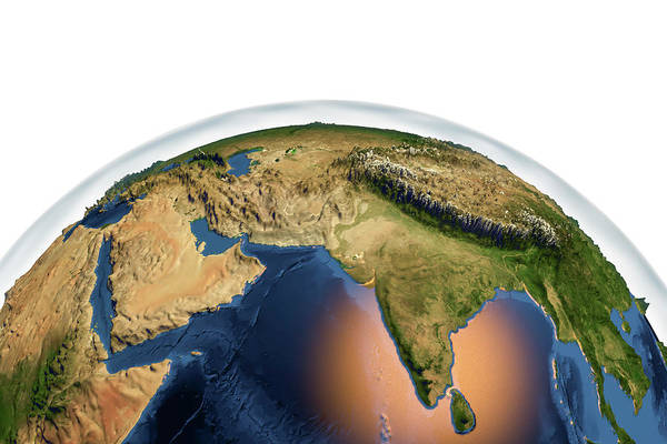 Northern India Photograph - Earth From Space by Kateryna Kon/science Photo Library