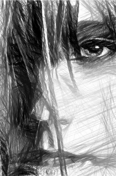 Digital Art - Facial Expressions by Rafael Salazar