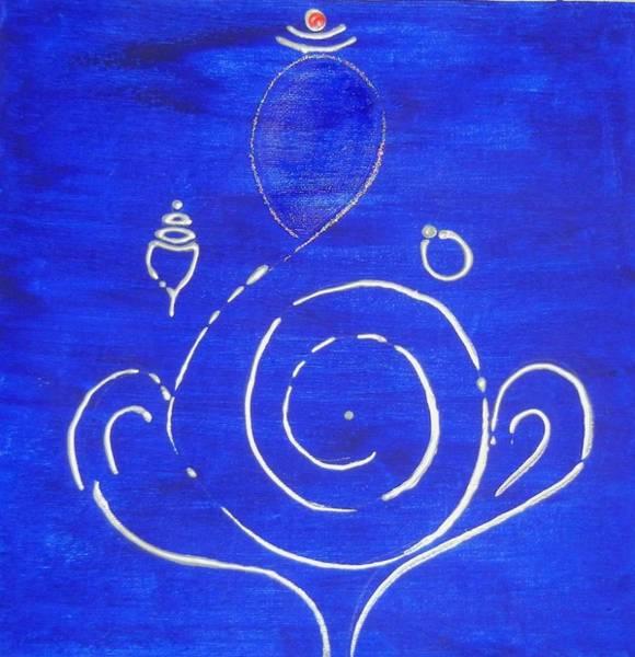 Ganesh Chaturthi Painting - 16 Ganesh by Kruti Shah