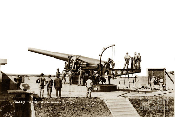 Photograph - 12-inch Guns Mounted On Barbette Carriages San Francisco Bay Area by California Views Archives Mr Pat Hathaway Archives