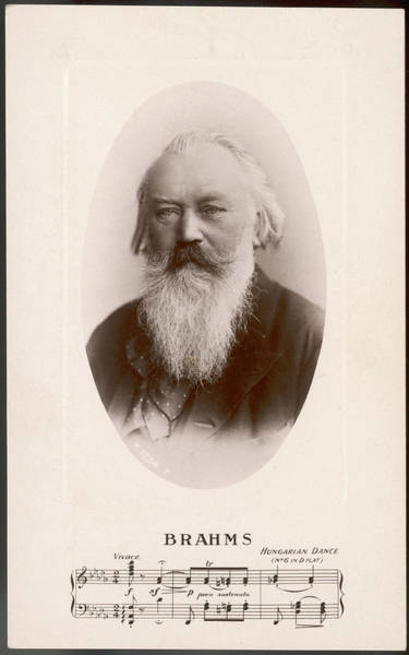 Wall Art - Photograph - Johannes Brahms, German Composer by Mary Evans Picture Library