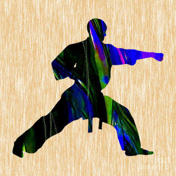 Fitness Mixed Media - Martial Arts Karate by Marvin Blaine