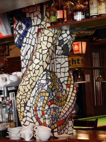 Ceramic Art - Mosaic Pillar by Charles Lucas