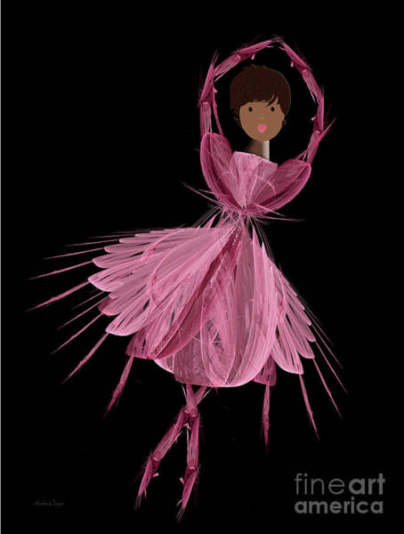 Digital Art - 12 Pink Ballerina by Andee Design