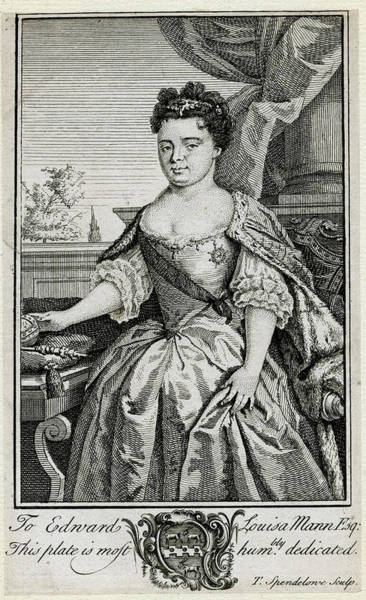 Wall Art - Drawing - Queen Anne  Reigned From 1702 by Mary Evans Picture Library