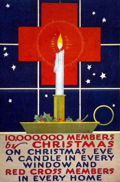 Recruitment Painting - Red Cross Poster, 1917 by Granger