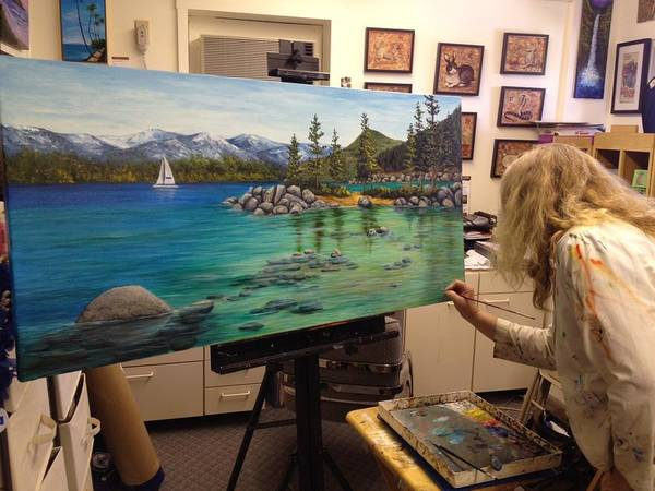 Painting - Sand Harbor Wip by Darice Machel McGuire