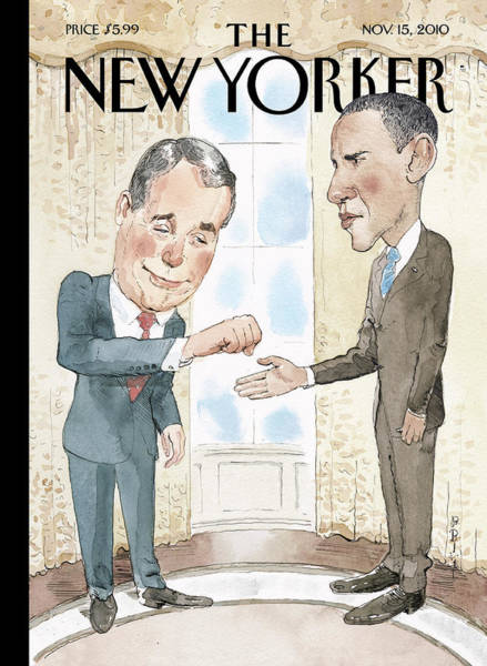 Obama Painting - New Yorker November 15th, 2010 by Barry Blitt