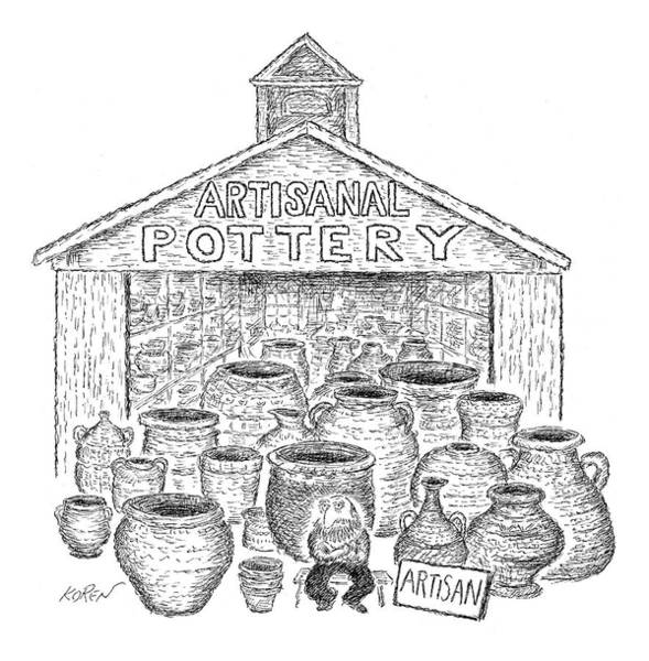 Ceramics Wall Art - Drawing - Artisanal Pottery by Edward Koren