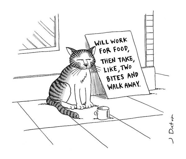 Animals Drawing - New Yorker September 22nd, 2008 by Joe Dator
