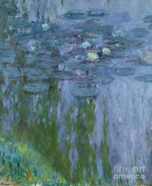 Lilly Pad Wall Art - Painting - Waterlilies by Claude Monet