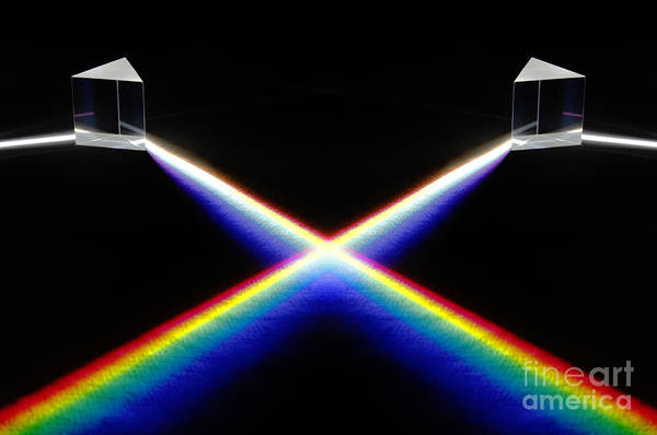 Grating Wall Art - Photograph - White Light Spectrum by GIPhotoStock