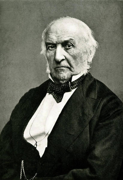 William And Mary Photograph - William Ewart Gladstone  British by Mary Evans Picture Library