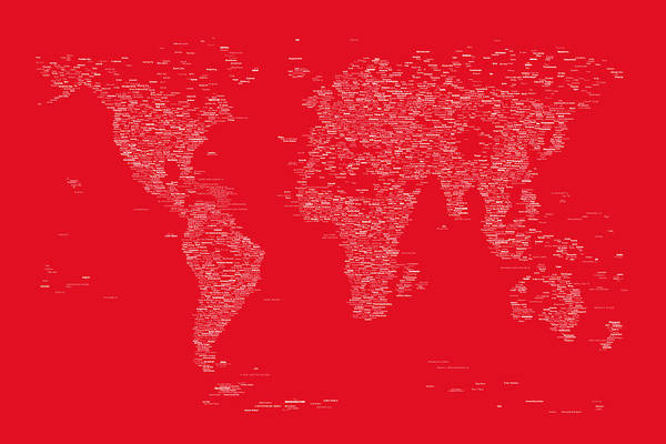 Wall Art - Digital Art - World Map Of Cities by Michael Tompsett