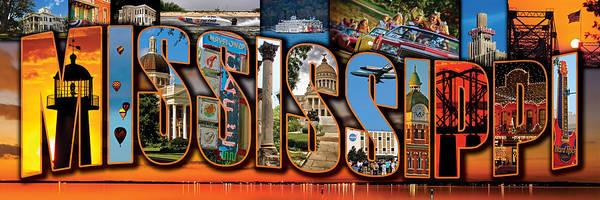 Photograph - 12 X 36 Horizontal Mississippi Postcard Version 1 by Jim Albritton