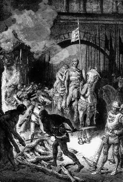 Excitement Painting - 1200s Spanish Hero El Cid Rodrigo Diaz by Vintage Images