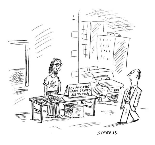 Vendor Drawing - New Yorker July 3rd, 2000 by David Sipress