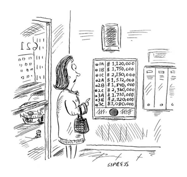 Rich Drawing - New Yorker July 24th, 2000 by David Sipress