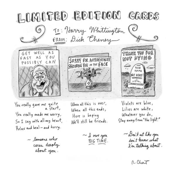 Hunting Drawing - Limited Edition Cards by Roz Chast