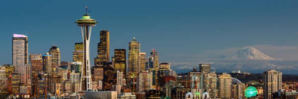 Seattle Seahawks Wall Art - Photograph - 12th Man City by Dan Mihai