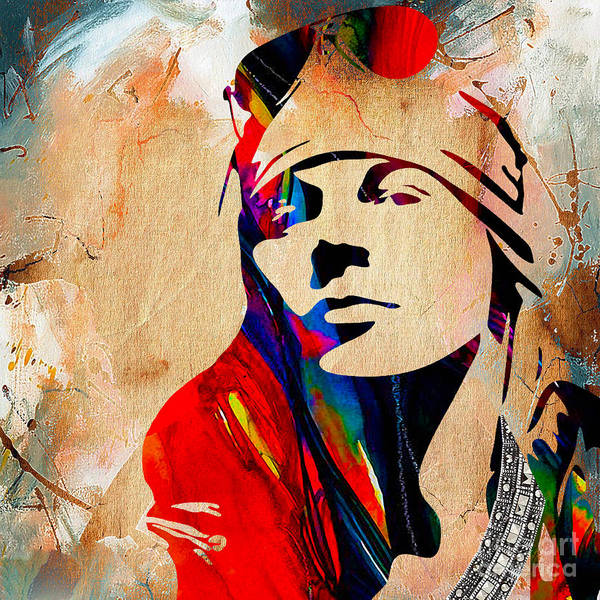 Wall Art - Mixed Media - Axl Roxe Collection by Marvin Blaine