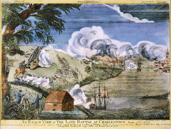 Gunfire Photograph - Battle Of Bunker Hill, 1775 by Granger