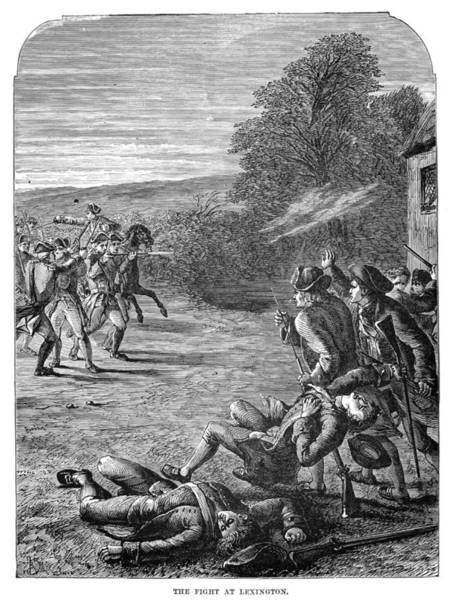 Militiaman Photograph - Battle Of Lexington, 1775 by Granger