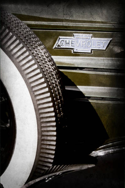 Old Chevy Photograph - Chevrolet Emblem by Jill Reger