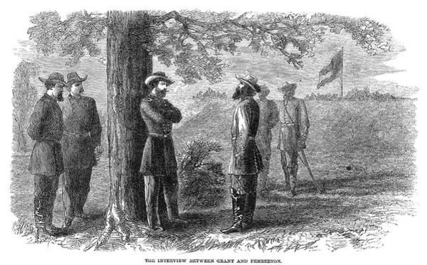 Wall Art - Painting - Civil War Vicksburg, 1863 by Granger