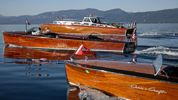 Outboard Engine Photograph - Classic Runabouts by Steven Lapkin