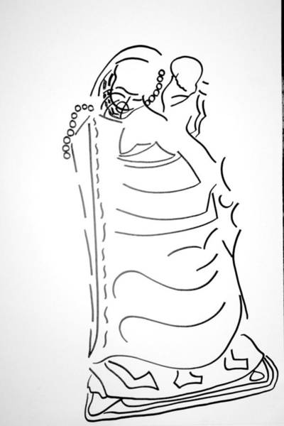 Dinka People Drawing - Dinka Lady - South Sudan by Gloria Ssali
