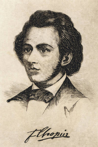Wall Art - Drawing - Frederic Chopin  Polish Musician by Mary Evans Picture Library
