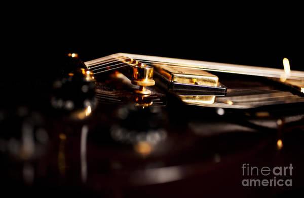 Fret Board Photograph - Les Paul Electric Guitar Artistic by Jani Bryson