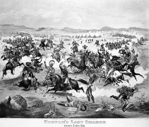 Big Fight Painting - Little Bighorn, 1876 by Granger