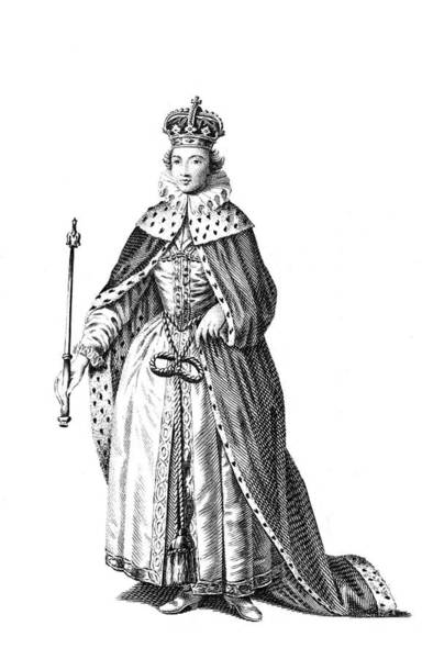 Wall Art - Drawing - Mary, Queen Of Scots (1542 - 1587) by Mary Evans Picture Library