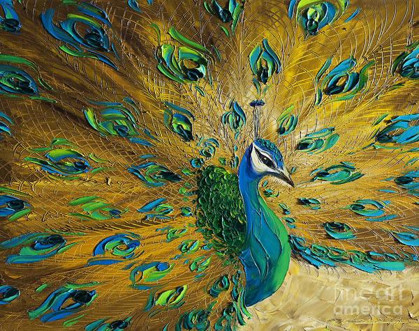 Peacocks Painting - Peacock by Willson Lau