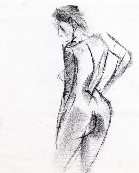 Woman Wall Art - Drawing - Rcnpaintings.com by Chris N Rohrbach