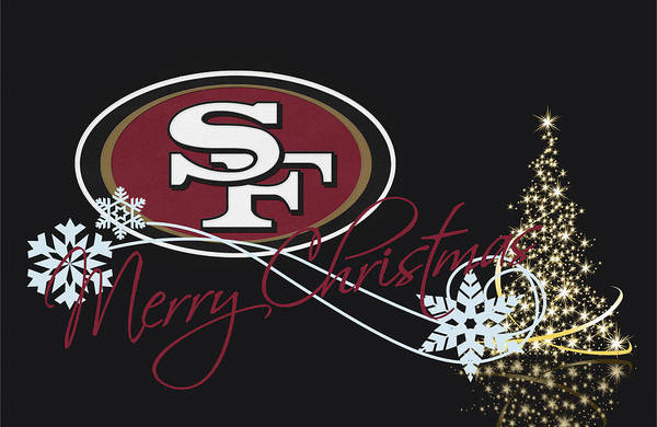 Santa Photograph - San Francisco 49ers by Joe Hamilton