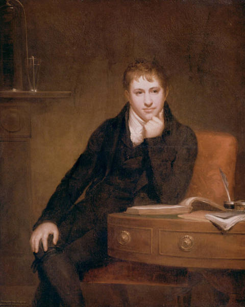 Inkwell Painting - Sir Humphry Davy (1778-1829) by Granger