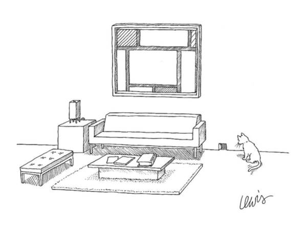 Cats Drawing - New Yorker April 7th, 2008 by Eric Lewis