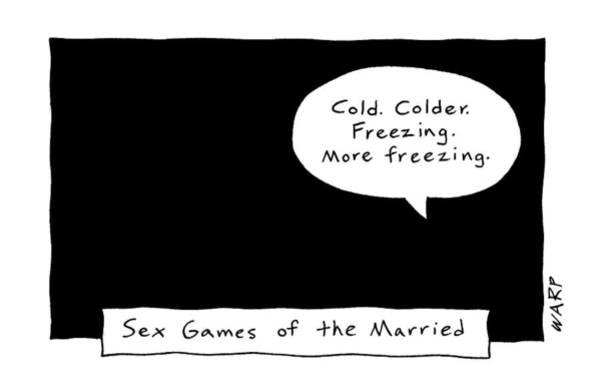 Freezing Drawing - Captionless; Sex Games Of The Married by Kim Warp