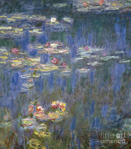 20th Painting - Water Lilies by Claude Monet