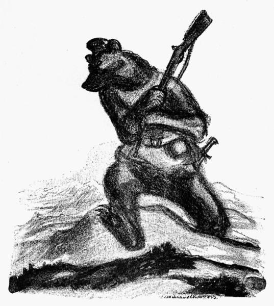 Wall Art - Painting - World War I Cartoon, 1914 by Granger