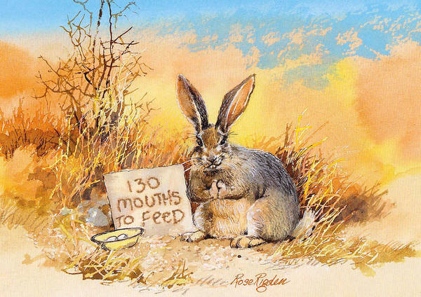 Rabit Painting - 130 Mouths To Feed by Rose Rigden