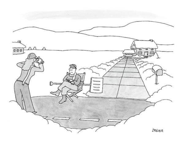 Accomplishment Drawing - New Yorker December 17th, 2007 by Jack Ziegler